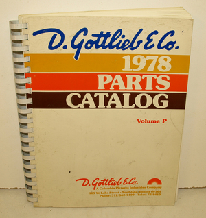 Parts Catalog Gottlieb 1978