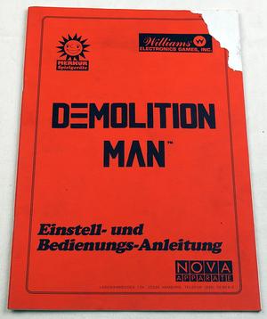 Demolition man tysk manual