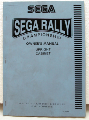 Sega Rally upright cabinet manual