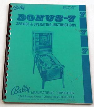 Bonus 7 bingospel manual